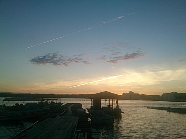 的矢湾の夕焼け