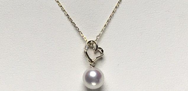 真珠のペンダント完成✨