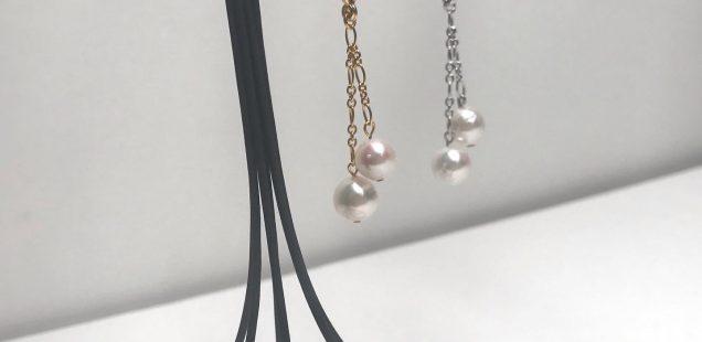 真珠のチャーム、作ってます💕